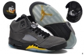 AAA Air Jordan 5 Oregon Ducks Grey Black Yellow