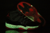 AAA Air Jordan 11 Glow Elephant Print Black Red