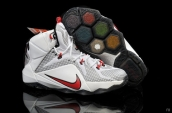 Nike Lebron 12 Kids White Black