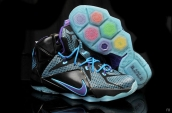 Nike Lebron 12 Kids Black Purple Light Blue