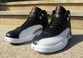 Air Jordan 12 Perfect Retro Black White Silvery