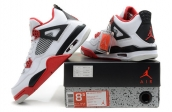 Air Jordan 4 Perfect white black red
