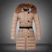 Moncler Down Coat Women 13074 Creamy White