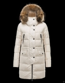 Moncler Down Coat Women 8015 Creamy White