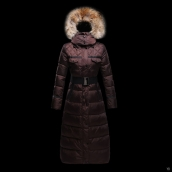 Moncler Down Coat Women 13042 Chocolate