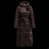 Moncler Down Coat Women 13044 Chocolate