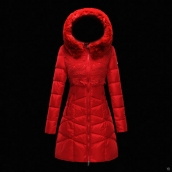 Moncler Down Coat Women 13045 Red