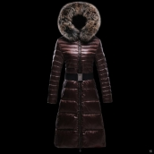 Moncler Down Coat Women 13052 Chocolate