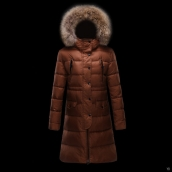 Moncler Down Coat Women 13053 Brown