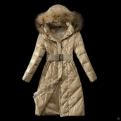 Moncler Down Coat Women 13057 Creamy White