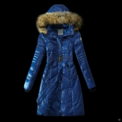Moncler Down Coat Women 13059 Blue
