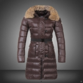 Moncler Down Coat Women 13074 Brown