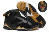 Perfect Air Jordan 7 Black Golden