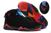 Perfect Air Jordan 7 Black Pink Blue Purple