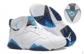 Perfect Air Jordan 7 White Blue Grey