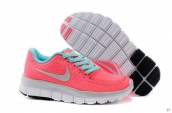 Nike Free 5-0 Kids Pink Light Green Grey