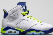 Perfect Air Jordan 6 Women White Blue Green 200