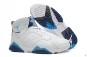 AAA Air Jordan 7 Retro White Blue