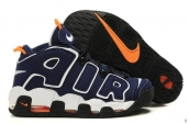 AAA Air More Uptempo Navy Blue White Orange