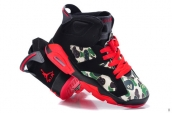 Women AAA Air Jordan 6 Camo Black Red 120