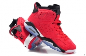 Women AAA Air Jordan 6 Suede Red Black 150