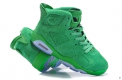 Women AAA Air Jordan 6 Suede Green 150