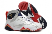 Perfect Air Jordan 7 Women White Silvery Navy Blue
