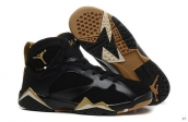 Perfect Air Jordan 7 Women Black Golden