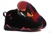 Perfect Air Jordan 7 Women Black Pink Purple