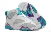 Perfect Air Jordan 7 Women White Grey Light Green Purple