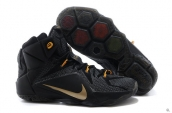 Nike Lebron 12 Black Golden