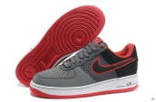 Air Force 1 Low Grey Black Red