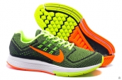 Women Air Zoom Structure 18 Fash Fluorescent Green Orange