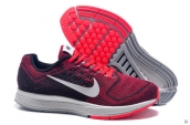 Air Zoom Structure 18 Fash Wine Red Black White