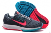 Air Zoom Structure 18 Fash Dark Grey Pink Blue