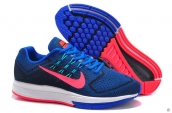 Air Zoom Structure 18 Fash Navy Blue Pink