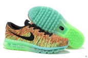 Nike Flyknit Air Max Green Black Red