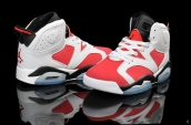 Air Jordan 6 White Red Black
