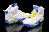 Air Jordan 6 White Blue Yellow
