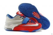 Nike KD VII Red Blue Silvery