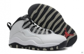 Air Jordan 10 Women White Grey Black