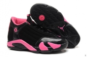 AAA Air Jordan 14 Women Black Pink