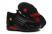 AAA Air Jordan 14 Women Black Red