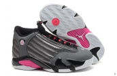 AAA Air Jordan 14 Women Grey Pink White