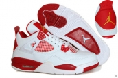 Air Jordan 4 White Red Golden