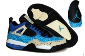 Air Jordan 4 Blue Black Grey