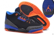 Air Jordan 3 Women Black Blue Orange