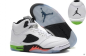 AAA Air Jordan 5 White Black Orange Green