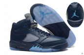 AAA Air Jordan 5 Navy Blue