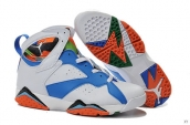 Air Jordan 7 White Blue Orange